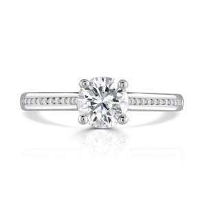 Platinum Round Brilliant Channel Set Ring