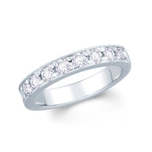 Load image into Gallery viewer, 18ct White Gold 0.75ct Round Pave Set 3.5mm Diamond Ring