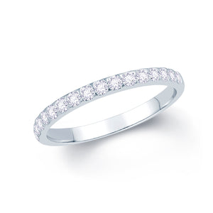 Platinum 0.25ct Triangle Claw Set 2mm Diamond Ring