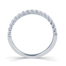 Load image into Gallery viewer, 18ct White Gold 0.50ct Round Two Row Claw Set 3.5mm Diamond Ring