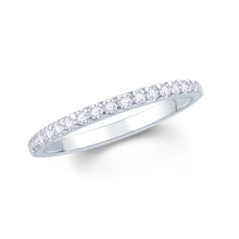 Load image into Gallery viewer, 18ct White Gold 0.15ct Triangle Claw Set 1.7mm Diamond Ring