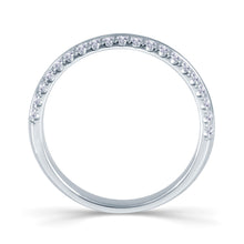 Load image into Gallery viewer, Platinum 0.30ct Round Two Row Claw Set 3.5mm Diamond Ring