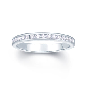 Platinum 0.25ct Round Channel Set Diamond Ring