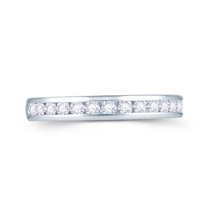 Platinum 0.40ct Round Channel Set Diamond Ring
