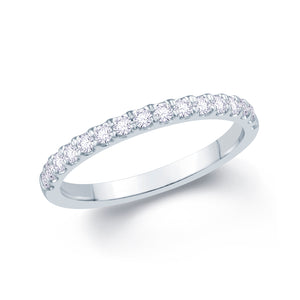 18ct White Gold 0.20ct Split Claw Set 1.7mm Diamond Ring