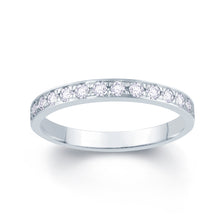Load image into Gallery viewer, Platinum 0.30ct Round Pave Set 2.5mm Diamond Ring
