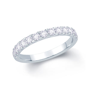 Platinum 0.55ct Split Claw Set 2.5mm Diamond Ring.