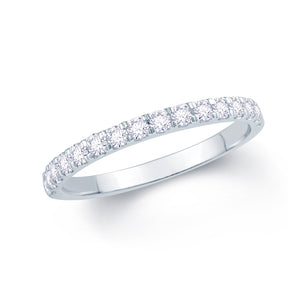 18ct White Gold 0.30ct Split Claw Set 2mm Diamond Ring