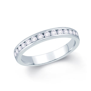 18ct White Gold 0.40ct Round Channel Set Diamond Ring