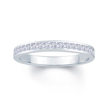 Load image into Gallery viewer, Platinum 0.50ct Princess Cut 2.5mm Diamond Ring