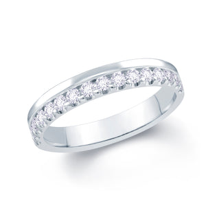 18ct White Gold 0.30ct Offset Claw 3.5mm Diamond Ring