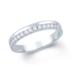 Platinum 0.20ct Offset Claw 3mm Diamond Ring