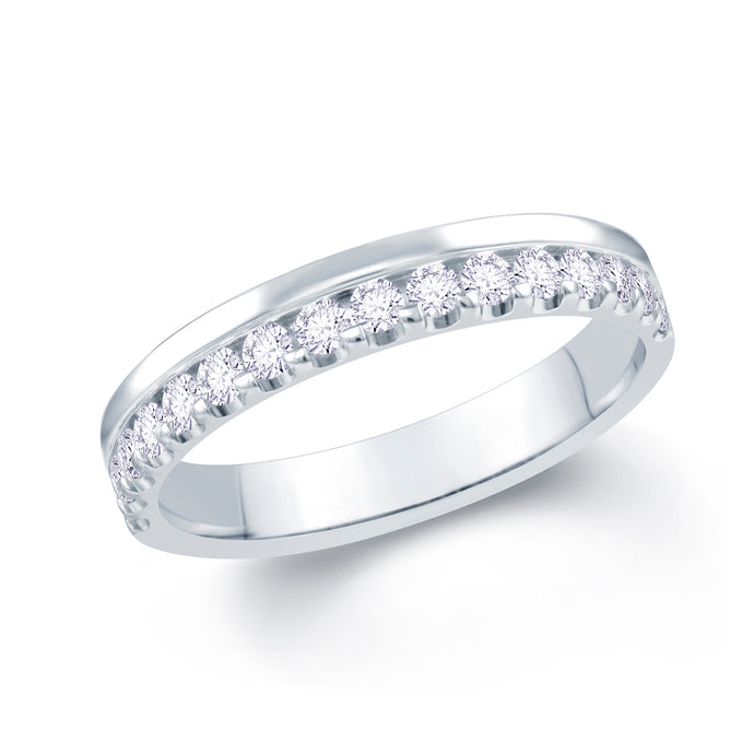 Platinum 0.30ct Offset Claw 3.5mm Diamond Ring