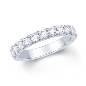 18ct White Gold 0.85ct Split Claw Set 3mm Diamond Ring