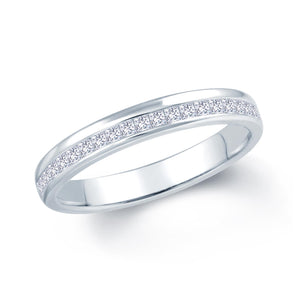 18ct white Gold 0.45ct Offset Claw 3.5mm Diamond Ring