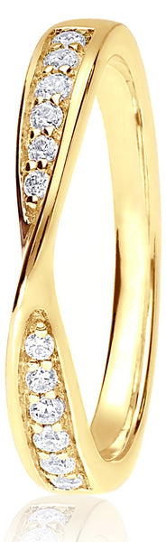 18ct Yellow Gold 0.16ct Ribbon Channel Set