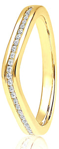 18ct Yellow Gold 0.15ct Wave Channel Set
