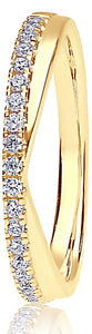 18ct Yellow Gold 0.20ct V-Shaped Pave Set