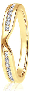 18ct Yellow Gold 0.25ct V-Shaped Channel Set