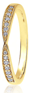 18ct Yellow Gold 0.14ct Ribbon Channel Set