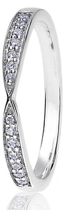 Platinum 0.14ct Ribbon Channel Set
