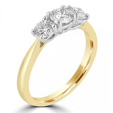 Load image into Gallery viewer, 18ct Yellow Gold Round Brilliant Three-Stone