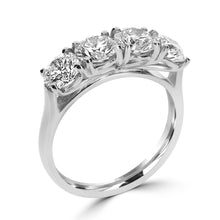 Load image into Gallery viewer, Platinum Round Brilliant Four Stone Claw