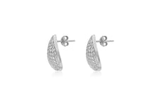 Load image into Gallery viewer, 9ct White Gold Diamond Cut Pear Shape Stud Earrings