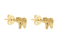 Load image into Gallery viewer, 9ct Yellow Gold Elephant Stud Earrings