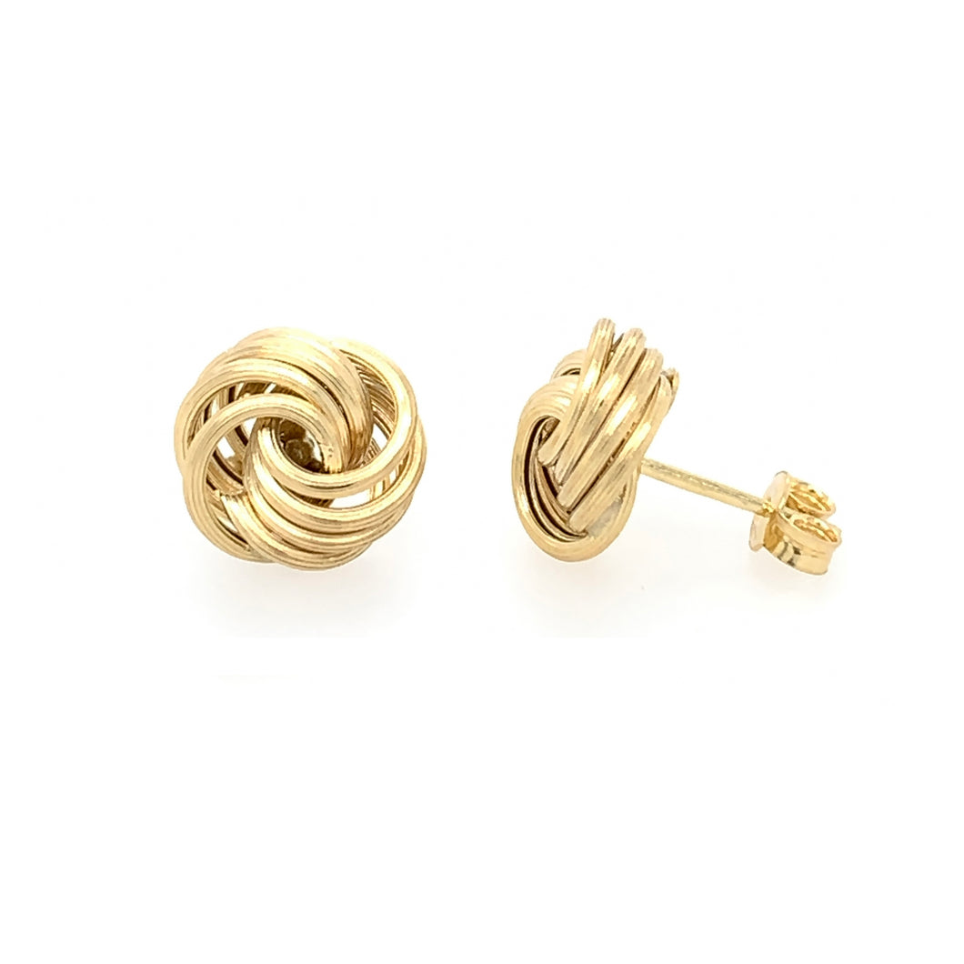 9ct Yellow Knot EARRINGS