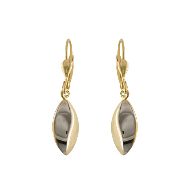 9ct gold drop earring