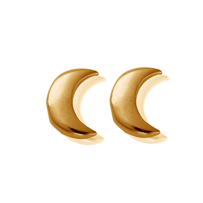 Chlobo Moon stud earring yellow gold plate