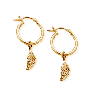 CHLOBO Didi Feather Gold Hoops