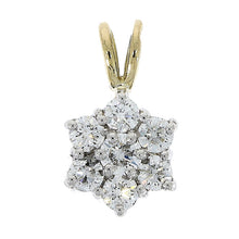 Load image into Gallery viewer, 18ct yellow gold 0.55ct diamond flower cluster pendant