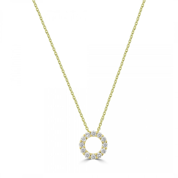 18ct Yellow Gold Circle of Life Diamond Pendent