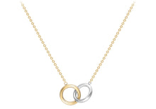 Load image into Gallery viewer, 9ct Gold Two Colour Linked Rings Necklace