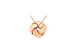 9ct Rose Gold Ladies Knot Pendant