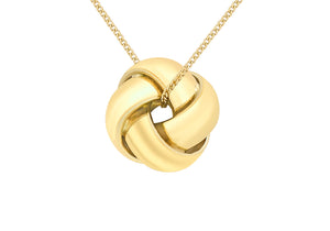 9ct Yellow ladies knot pendent