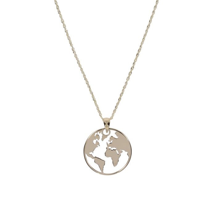 9ct Yellow Gold World Necklace