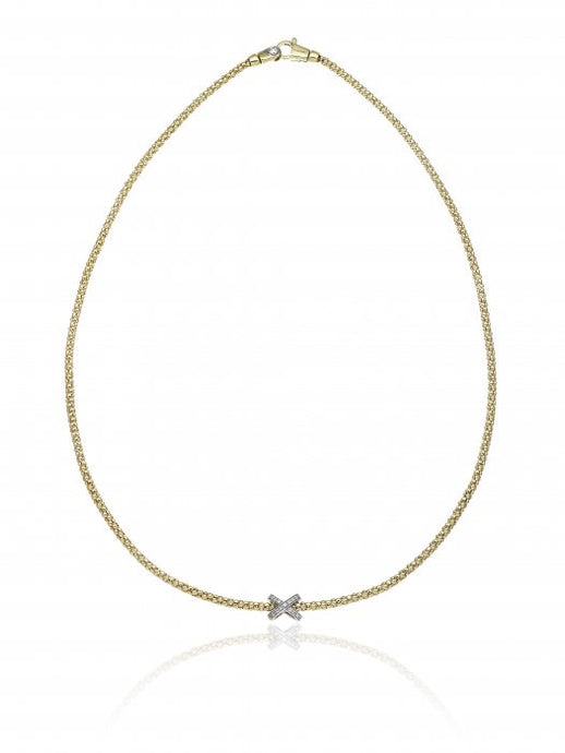 Chimento Melograno 18ct Gold & 0.13ct Diamond Necklace