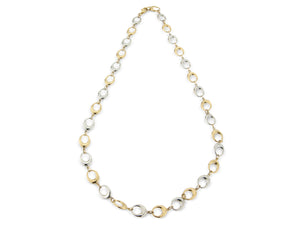 9ct Yellow and White gold Necklace