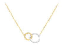 Load image into Gallery viewer, 9ct Two Colour Gold Interlocking Circles Necklace