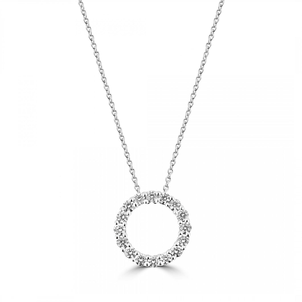 18ct Gold Large Circle of Life Diamond Necklace
