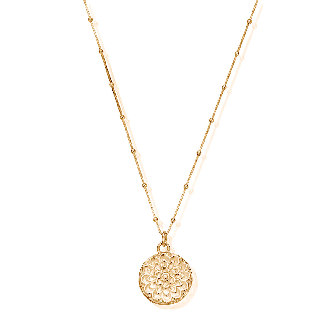 Chlobo bobble chain Moon flower necklace yellow gold plate