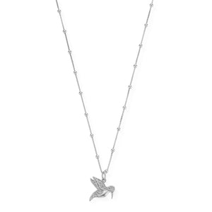 ChloBo Silver Necklace with Humming Bird Pendant