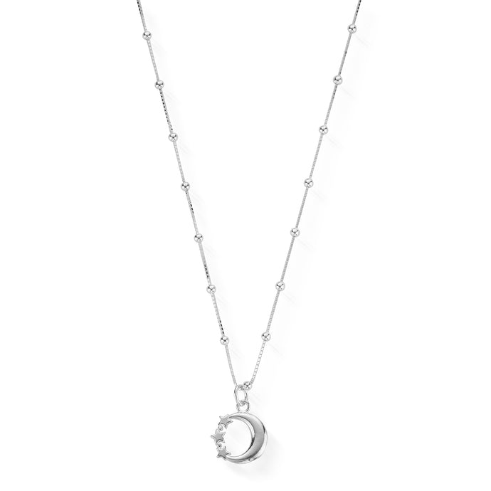 ChloBo Silver Necklace with Moon and Star Pendant