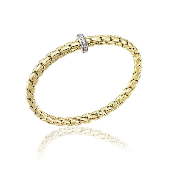 Chimento Stretch Spring 18ct Gold & Diamond Bracelet