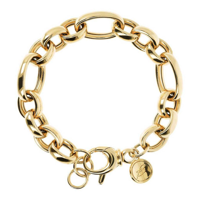 Bronzallure 18ct Gold Plated Oval Link Bracelet