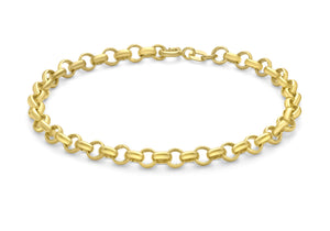 9ct Yellow Gold Round Belcher chain Bracelet