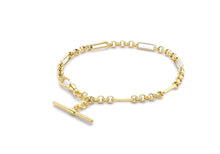 Load image into Gallery viewer, 9ct Yellow Gold Belcher Albert T-Bar Bracelet